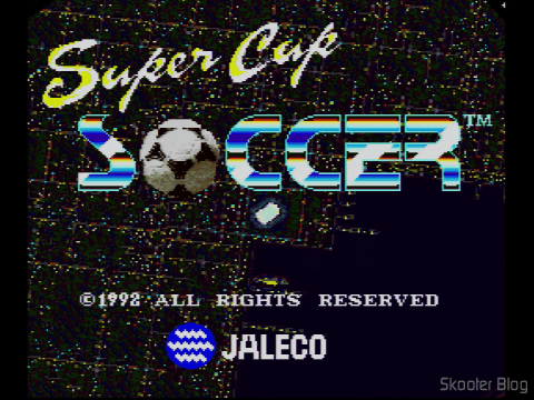 Super Cup Soccer - The title screen