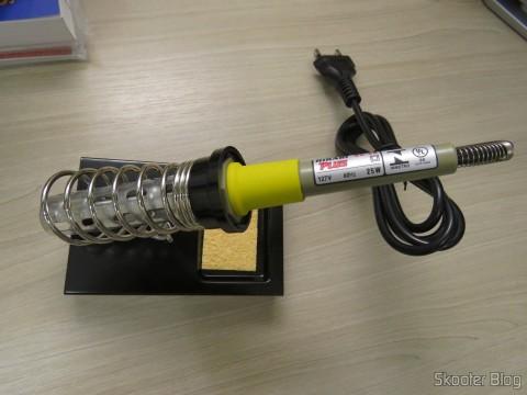 Suporte de Ferro de Soldar Hikari Profissional - HK10 com o Ferro de Soldar Hikari Profissional SC-30 25W - 127V ou 220V - SC-30