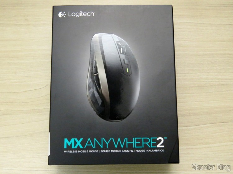 Mouse Logitech MX Anywhere 2, on its packaging