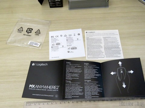 Manual e demais folhetos do Mouse Logitech MX Anywhere 2