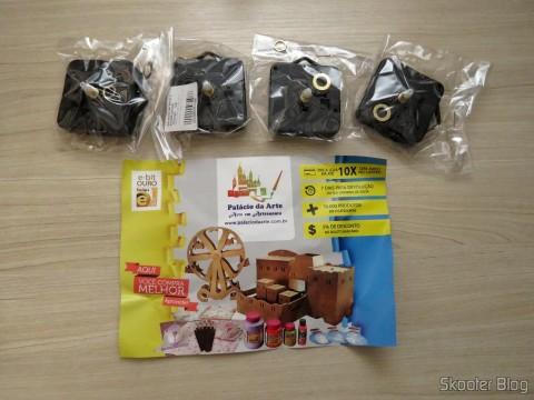 4 Máquinas De Relógio Quartz 13mm Com Alça E Eixo - Uniart e folheto da loja
