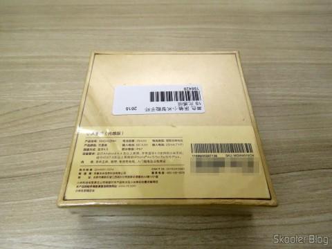 Smart bracelet Xiaomi Mi Band 1S, on its packaging