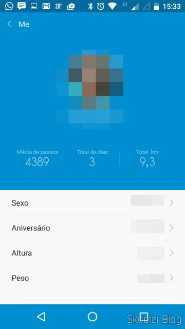 Configuring the profile in Mi Fit