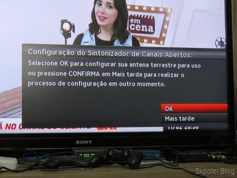 Decodificador SHR23 detecta o Módulo de TV Aberta Sky HDTV SIM25 (S-IM25-700)