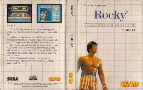 Cover of Tec Toy to the Rocky - Master System