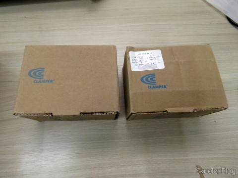 Two DPS against Lightning Shield p / Cabos Clamper, in their packaging
