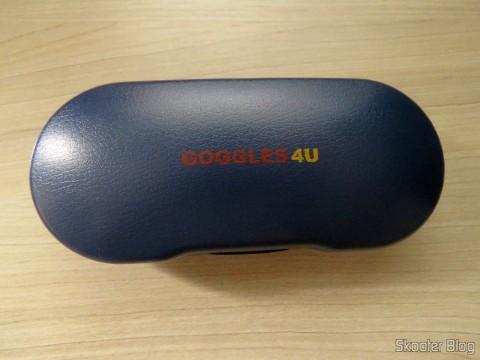 Óculos G4U 79012 com Lentes 1.56 Fotocromáticas Cinza dentro da caixinha da Goggles4U