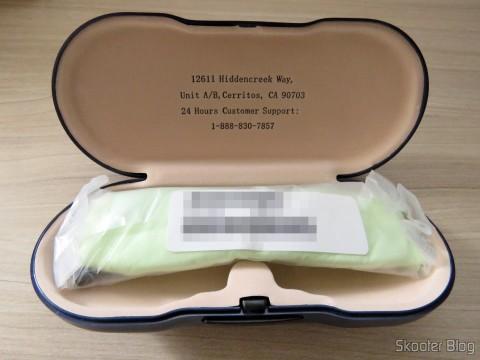 G4U Glasses 79012 with lenses 1.56 Inside the box of Gray photochromic Goggles4U