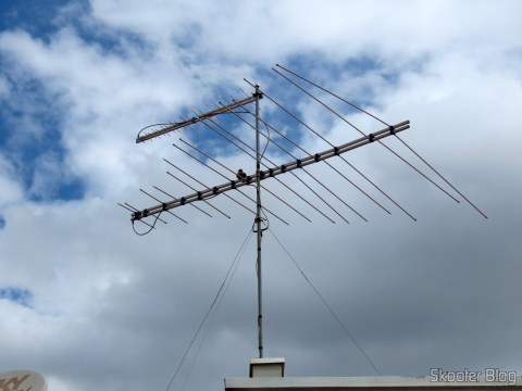 VHF UHF signal mixer Thevear 1020-F, installed