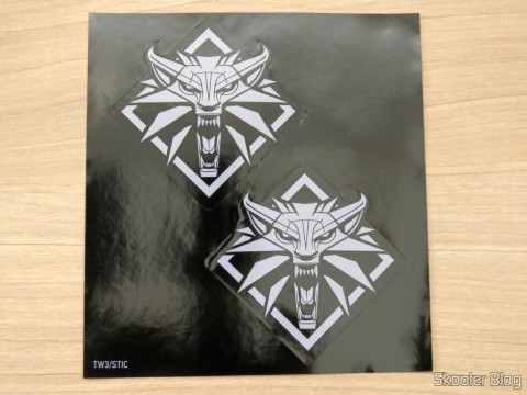 Stickers that come with The Witcher 3: Wild Hunt (Playstation 4)