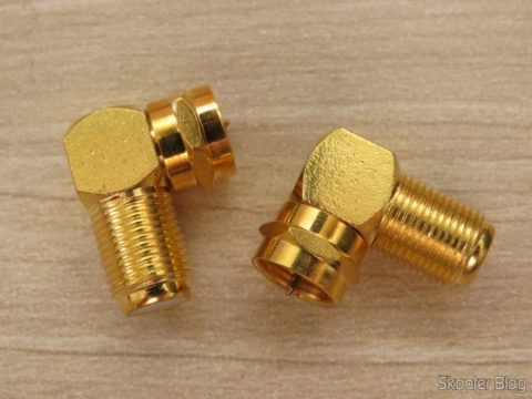 Adapters in L to F-type antenna connector