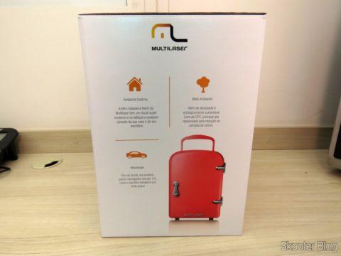 Portable Mini Fridge Retro TV007, on its packaging