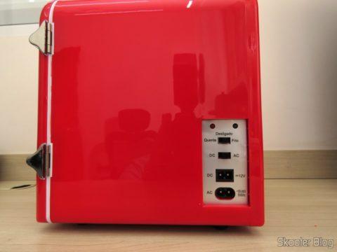 Side of the Mini Fridge Retro Portable TV007