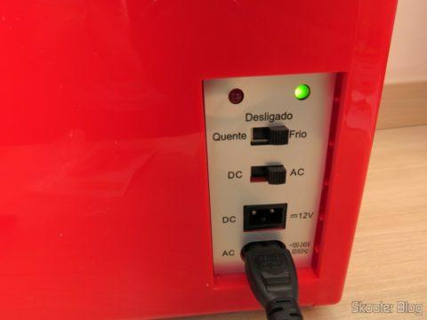 TV007 Retro Portable Mini Fridge in operation, cooling