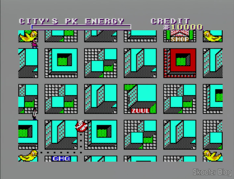 The map of Ghostbusters - Master System