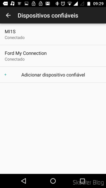 Adicionando a Mi Band 1S na lista de dispositivos confiáveis do Smart Lock