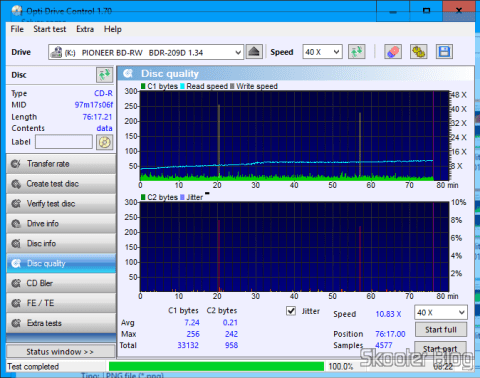 O Gravador de DVD+/-RW Sony AD-7280S é um bom gravador, mas não é um bom scanner
