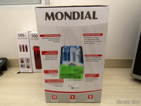 Ultrasonic air humidifier Mondial Comfort Air 4 Liters, on its packaging