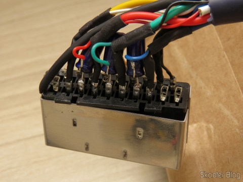 SCART plug-SCART RGB cable for Playstation One (Sync-on-Luma) com upgrade para Multicore Coax