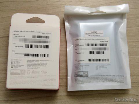 ASUS Laptop Power Charger Bank Zenpower 10050 mAh e Bumper, in their packaging