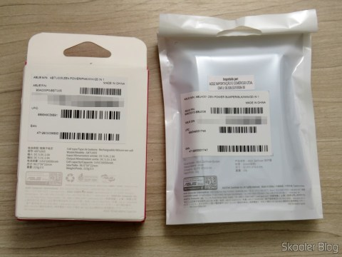 ASUS Laptop Power Charger Bank Zenpower 10050 mAh e Bumper, in their packaging