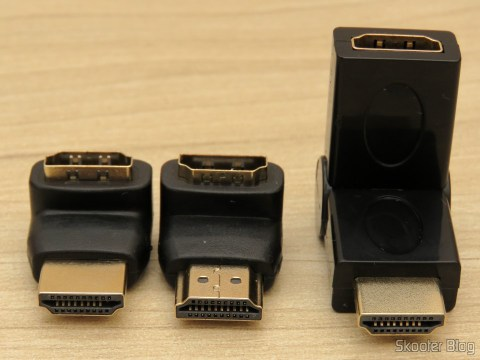 HDMI Angled Adapters (in L) and Rotating