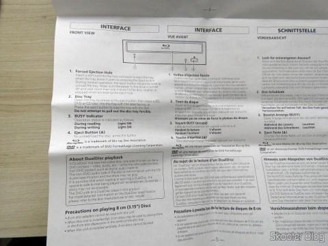 Manual de Instruções do Gravador Blu-ray Pionner BDR 209-DBK