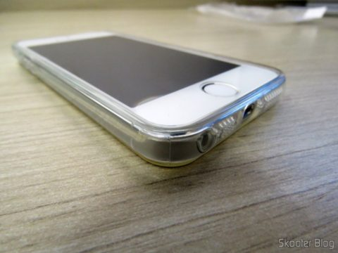 Cover and glass Film applied on iPhone 5S