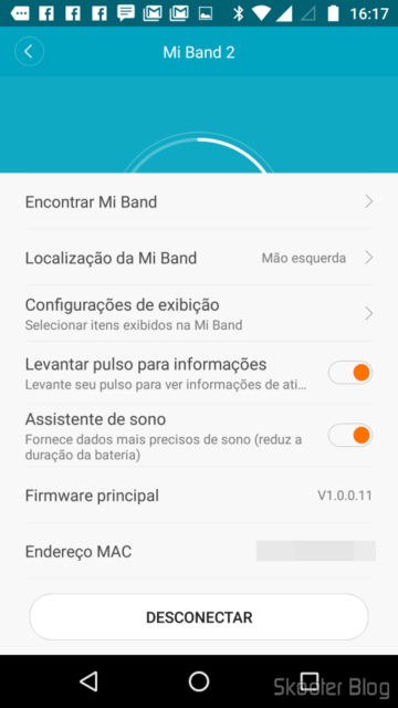 E Fit: Mi Band settings