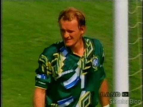 Seleção Brasileira vencendo a Itália nos penaltis e ganhando o tetra na Copa de 1994