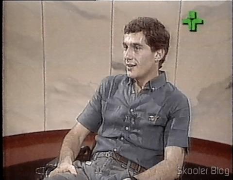 Ayrton Senna no programa Roda Viva em 1986