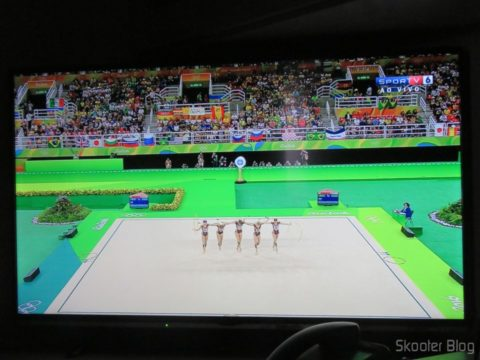 "Smart TV Panasonic Viera 40"" - TC-40DS600B, em funcionamento"
