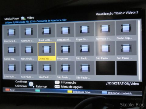"""O Media Player da Smart TV Panasonic Viera 40"""" - TC-40DS600B acessa meus vídeos diretamente do NAS"""