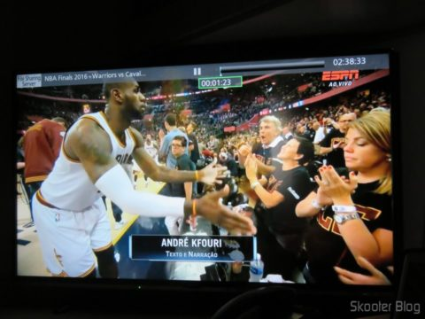 """O Jogo 7 da final da NBA que gravei em 720p (resolução original da ESPN) fica perfeito na Smart TV Panasonic Viera 40"""" - TC-40DS600B"""