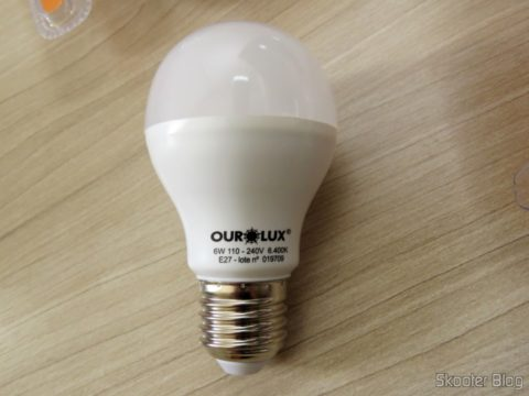 Ourolux Lamp Superled Gold 60 6In,