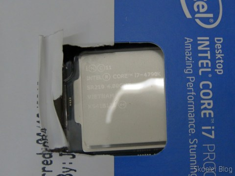 Intel i7-4790K, on its packaging