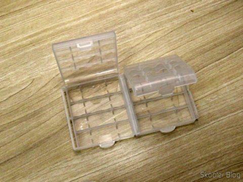 Estojos Rígidos para Pilhas AA, AAA, 14500 e 10440