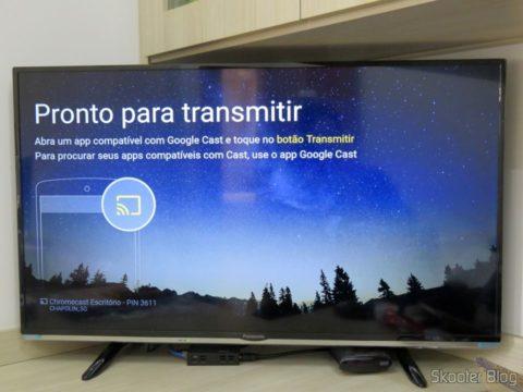 Chromecast 2 pronto para receber transmissões