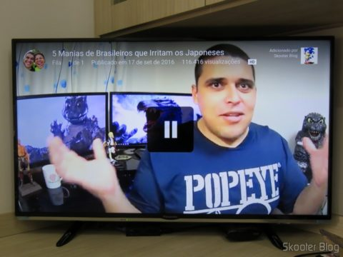 Testando o Youtube no Chromecast 2
