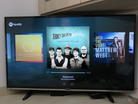 Testing the Spotify in Chromecast 2