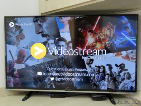 Video streaming of the Chrome extension to display videos from PC Chromecast