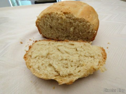 The sixth bread: Traditional white bread made in the Normal Cycle with Clear Shell
