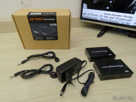 Lenkeng LKV375 HDBaseT HDMI Extender and its packaging