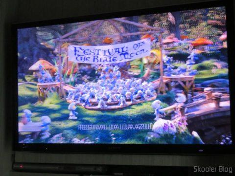 Ponto Escravo executando Blu-ray 3D