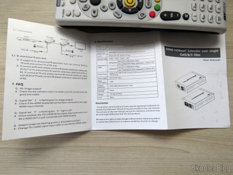 Instruction manual Lenkeng LKV375 HDBaseT HDMI Extender
