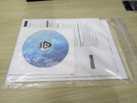 Manuais e CD do Switch Easy Smart Gigabit de 16 Portas TP-Link TL-SG1016DE