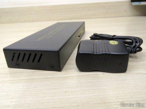 Decodificador e Extrator de Áudio HDMI para HDMI, SPDIF e Analógico 5.1 e sua Fonte de Alimentação