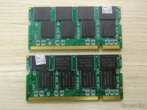 Módulos de Memória Hynix 2GB (2x1GB) DDR PC2700 333MHz para Laptop
