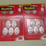 Ganchos Adesivos Transparentes Pequenos, em sua embalagem