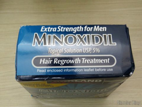 Packaging with 6 bottles of Kirkland Minoxidil 5%